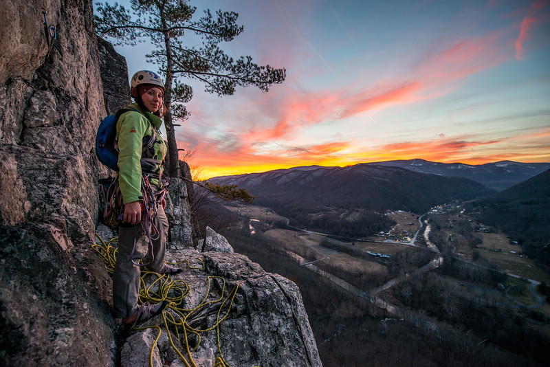 Climbing_Seneca Rocks_West Virginia_photo by Gabe DeWitt_February 07, 2015-177