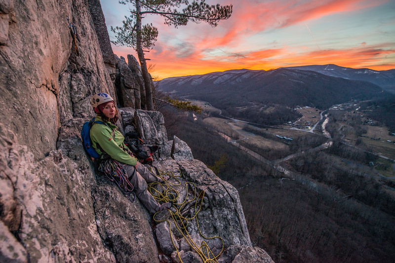Climbing_Seneca Rocks_West Virginia_photo by Gabe DeWitt_February 07, 2015-164