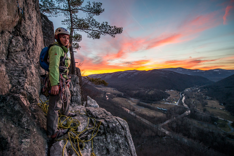 Climbing_Seneca Rocks_West Virginia_photo by Gabe DeWitt_February 07, 2015-178