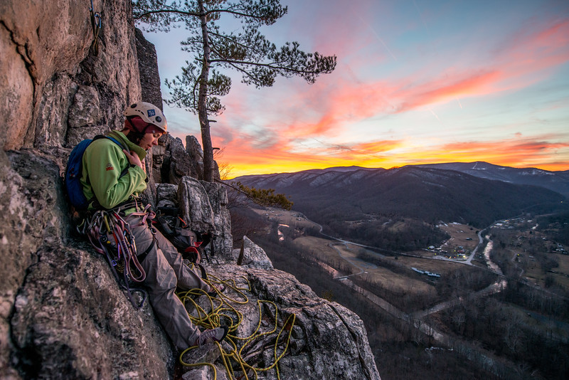 Climbing_Seneca Rocks_West Virginia_photo by Gabe DeWitt_February 07, 2015-170