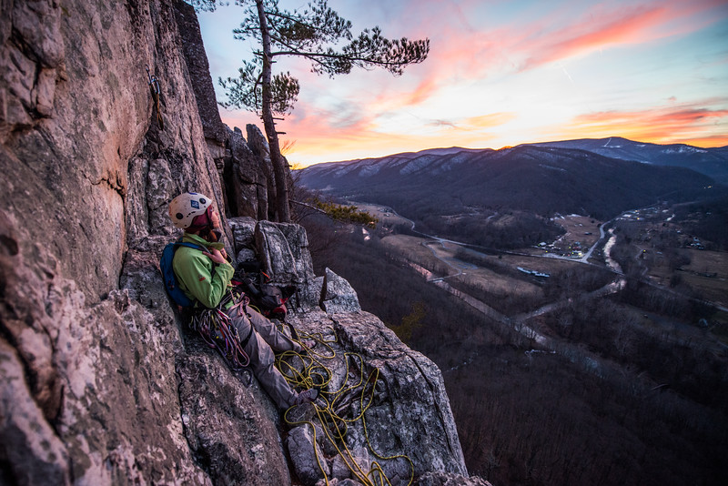 Climbing_Seneca Rocks_West Virginia_photo by Gabe DeWitt_February 07, 2015-167