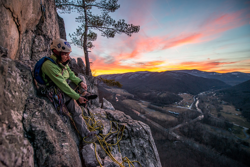 Climbing_Seneca Rocks_West Virginia_photo by Gabe DeWitt_February 07, 2015-173