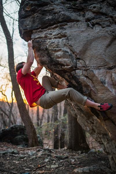 Bouldering_Pioneer Rocks_West Virginia_photo by Gabe DeWitt_March 12, 2015-43