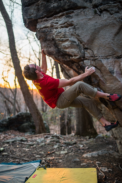 Bouldering_Pioneer Rocks_West Virginia_photo by Gabe DeWitt_March 12, 2015-41