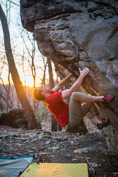 Bouldering_Pioneer Rocks_West Virginia_photo by Gabe DeWitt_March 12, 2015-35