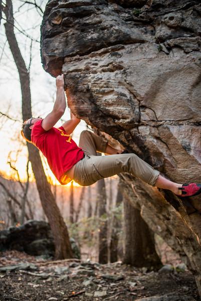 Bouldering_Pioneer Rocks_West Virginia_photo by Gabe DeWitt_March 12, 2015-44