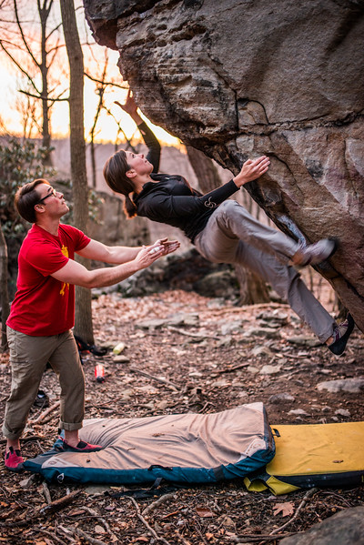 Bouldering; Pioneer; Rocks; West; Virginia; photo; Gabe; DeWitt; March; 2015; 110; Brian Brotherton; Favorite things; Morgantown; People; Pioneer Rocks; Places; Sigma Art Lens 35 mm F1.4; West Virginia; bouldering; by Gabe DeWitt; climbers; climbing; rocks; space; sun; sunset