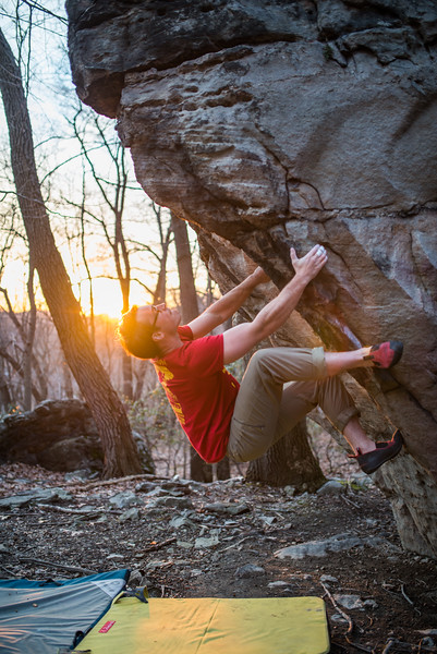 Bouldering_Pioneer Rocks_West Virginia_photo by Gabe DeWitt_March 12, 2015-34