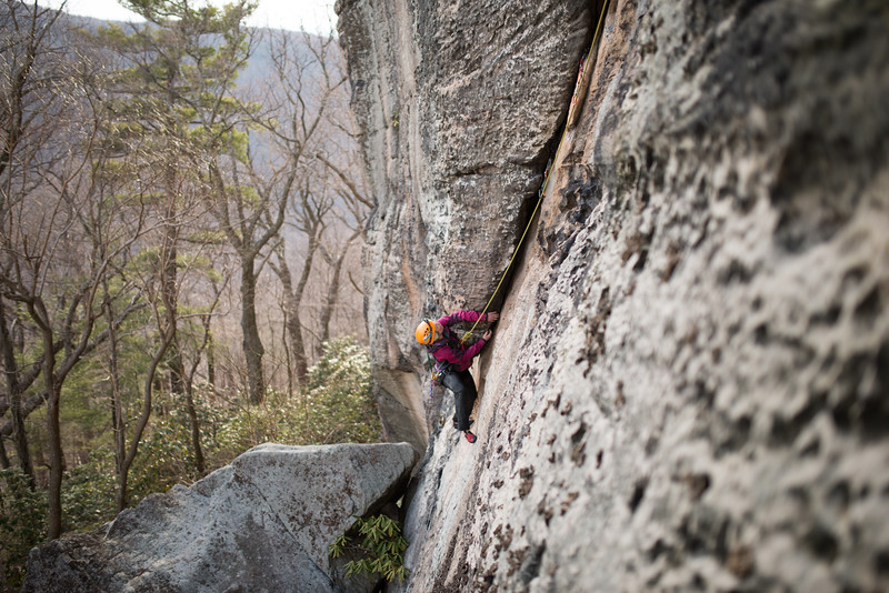 Trad_Climbing_Coopers_Rock_West_Virginia_photo_by_Gabe DeWitt_March 29, 2015_35