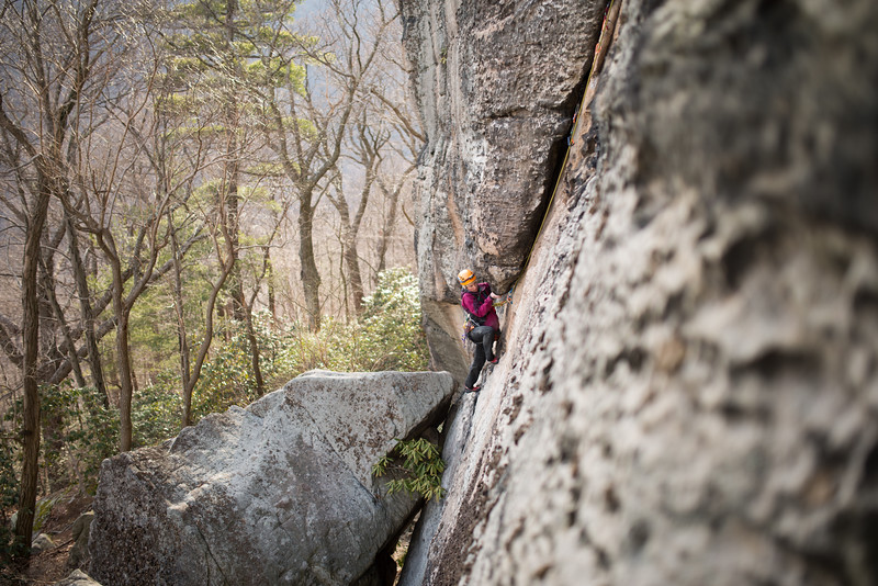Trad_Climbing_Coopers_Rock_West_Virginia_photo_by_Gabe DeWitt_March 29, 2015_14