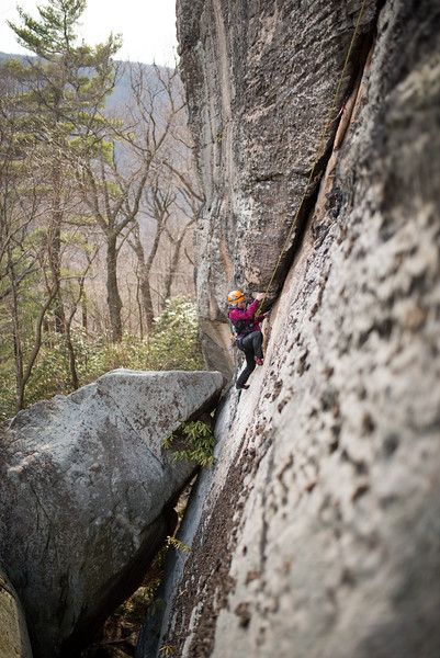 Trad_Climbing_Coopers_Rock_West_Virginia_photo_by_Gabe DeWitt_March 29, 2015_30