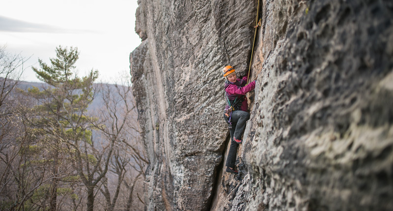 Trad_Climbing_Coopers_Rock_West_Virginia_photo_by_Gabe DeWitt_March 29, 2015_55