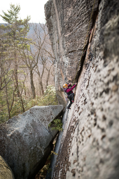 Trad_Climbing_Coopers_Rock_West_Virginia_photo_by_Gabe DeWitt_March 29, 2015_32