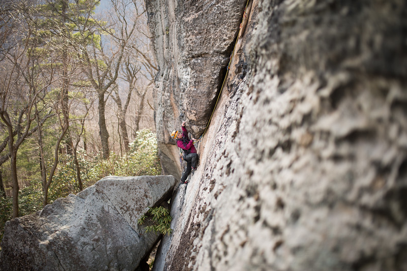 Trad_Climbing_Coopers_Rock_West_Virginia_photo_by_Gabe DeWitt_March 29, 2015_17