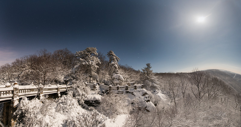 Moonlit Nights; Adventure Photography; Coopers Rock; Cross Country Skiing; Favorite things; Places; Seasons; Snow; Snow Day; West Virginia; Winter; by Gabe DeWitt; panorama
