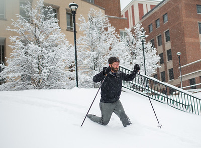 Snow Day_Cross Country Skiing_WVU_West Virginia_photo by Gabe DeWitt_March 05, 2015-30