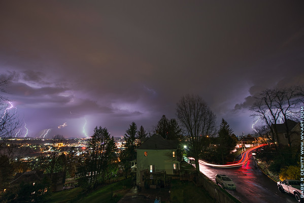 Lightning; Morgantown; photo; Gabe; DeWitt; April; 2015; Gabe DeWitt