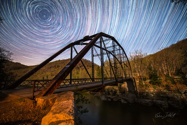 Jenkinsburg Bridge Star Trails