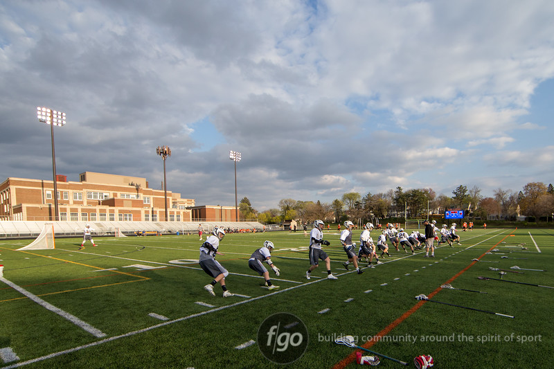 St Louis Park Orioles v Minneapolis Warriors Lacrosse at Washburn Field, March 28, 2015