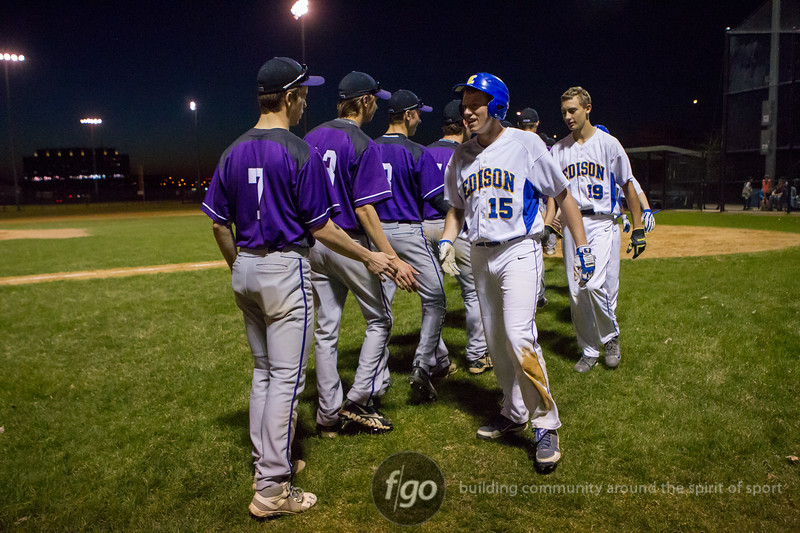 Minneapolis Edison Tommies v Minneapolis Southwest Lakers Baseball at Seifert March 30, 2015