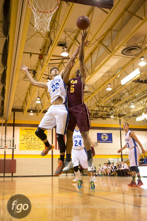 2-26-15 St. Paul Academy v Minneapolis Roosevelt Basketball Sectionals