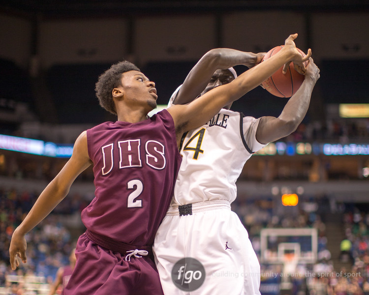 3-14-15 St. Paul Johnson v DeLaSalle at 2015 MSHSL Class 3A State Basketball Championship