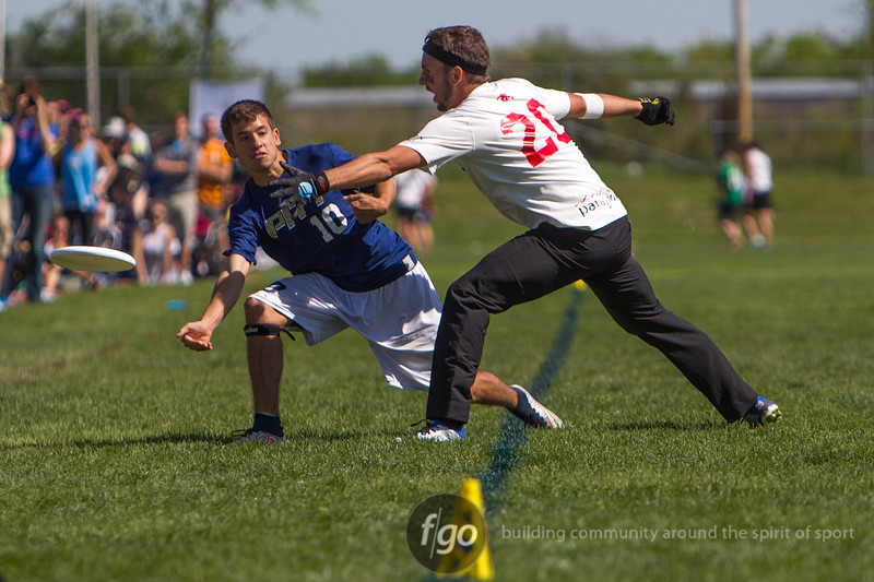 2015 USA Ultimate D1 College Championships at Uilhein Soccer Park, Milwaukee, Wisconsin, Day 2 Action on 23 May 2015