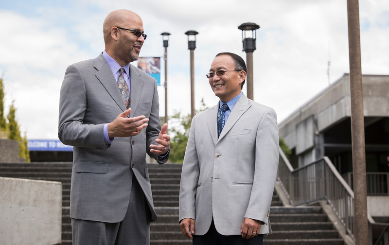 Chancellor Pan and Dr. Brown