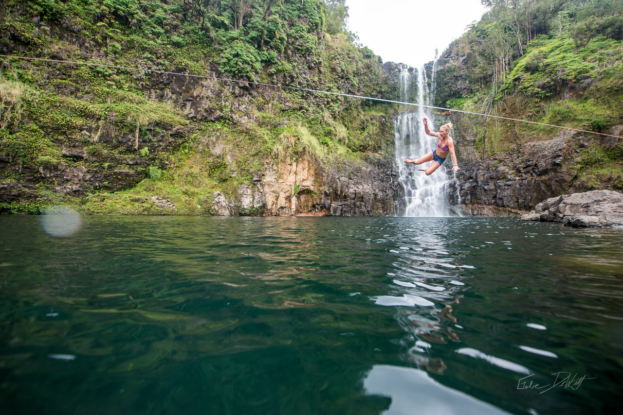Hidden; Falls; Hilo; Hawaii; 203; Adventure; Big Island; By Gabe DeWitt; Dragon Falls; Favorite things; Friends; HW; Hawaii; Hiking; Hilo; Nikon; Nikon D800; Places; Slackline; Travel; Winter in Hawaii; hidden falls; island; outex; outex housing; water fall; water falls , Hawaii Slake Life