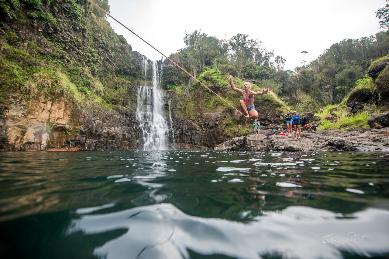 Hidden; Falls; Hilo; Hawaii; 192; Adventure; Big Island; By Gabe DeWitt; Dragon Falls; Favorite things; Friends; HW; Hawaii; Hiking; Hilo; Nikon; Nikon D800; Places; Slackline; Travel; Winter in Hawaii; hidden falls; island; outex; outex housing; water fall; water falls , Hawaii Slake Life