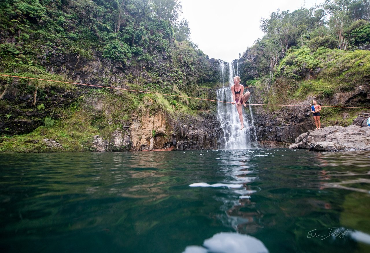 Hidden; Falls; Hilo; Hawaii; 135; Adventure; Big Island; By Gabe DeWitt; Dragon Falls; Favorite things; Friends; HW; Hawaii; Hiking; Hilo; Nikon; Nikon D800; Places; Slackline; Travel; Winter in Hawaii; hidden falls; island; outex; outex housing; water fall; water falls , Hawaii Slake Life