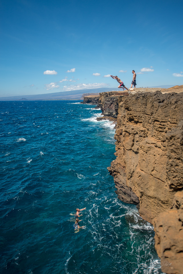 South; Point; Cliff; Jumping; Hawaii; Big Island; By Gabe DeWitt; Favorite things; Friends; HW; Nikon; Nikon D800; Places; South Point; Southern; Travel; Winter in Hawaii; island; outex; outex housing; underwater