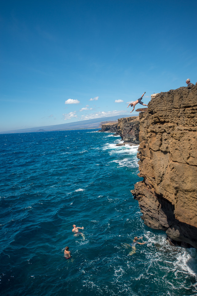 South; Point; Cliff; Jumping; Hawaii; Big Island; By Gabe DeWitt; Christopher Mcnew; Favorite things; Friends; HW; Nikon; Nikon D800; Places; South Point; Southern; Travel; Winter in Hawaii; island; outex; outex housing; underwater