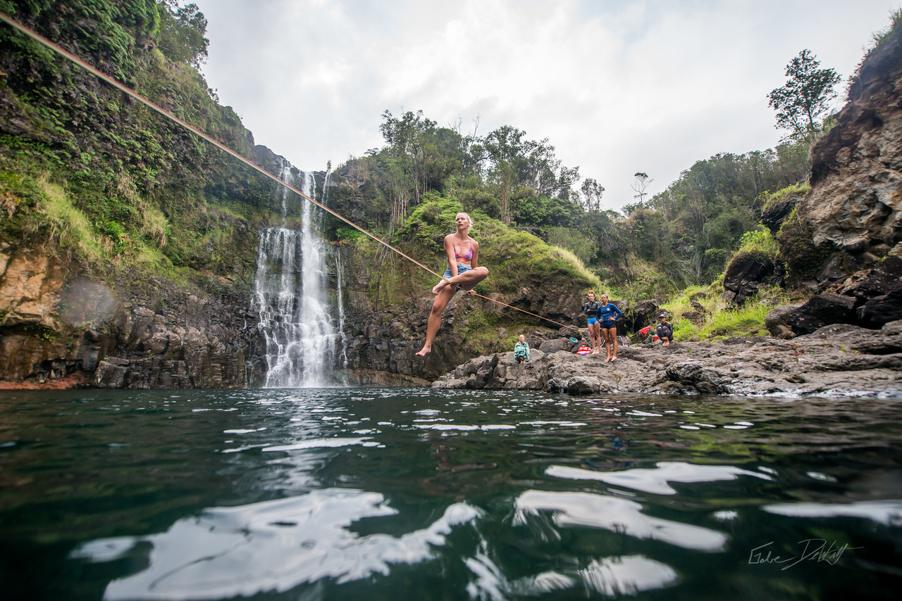 Hidden; Falls; Hilo; Hawaii; 170; Adventure; Big Island; By Gabe DeWitt; Dragon Falls; Favorite things; Friends; HW; Hawaii; Hiking; Hilo; Nikon; Nikon D800; Places; Slackline; Travel; Winter in Hawaii; hidden falls; island; outex; outex housing; water fall; water falls , Hawaii Slake Life