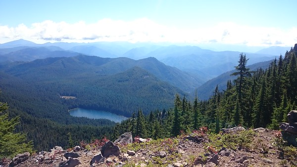 View of Elk Lake from Battle Axe