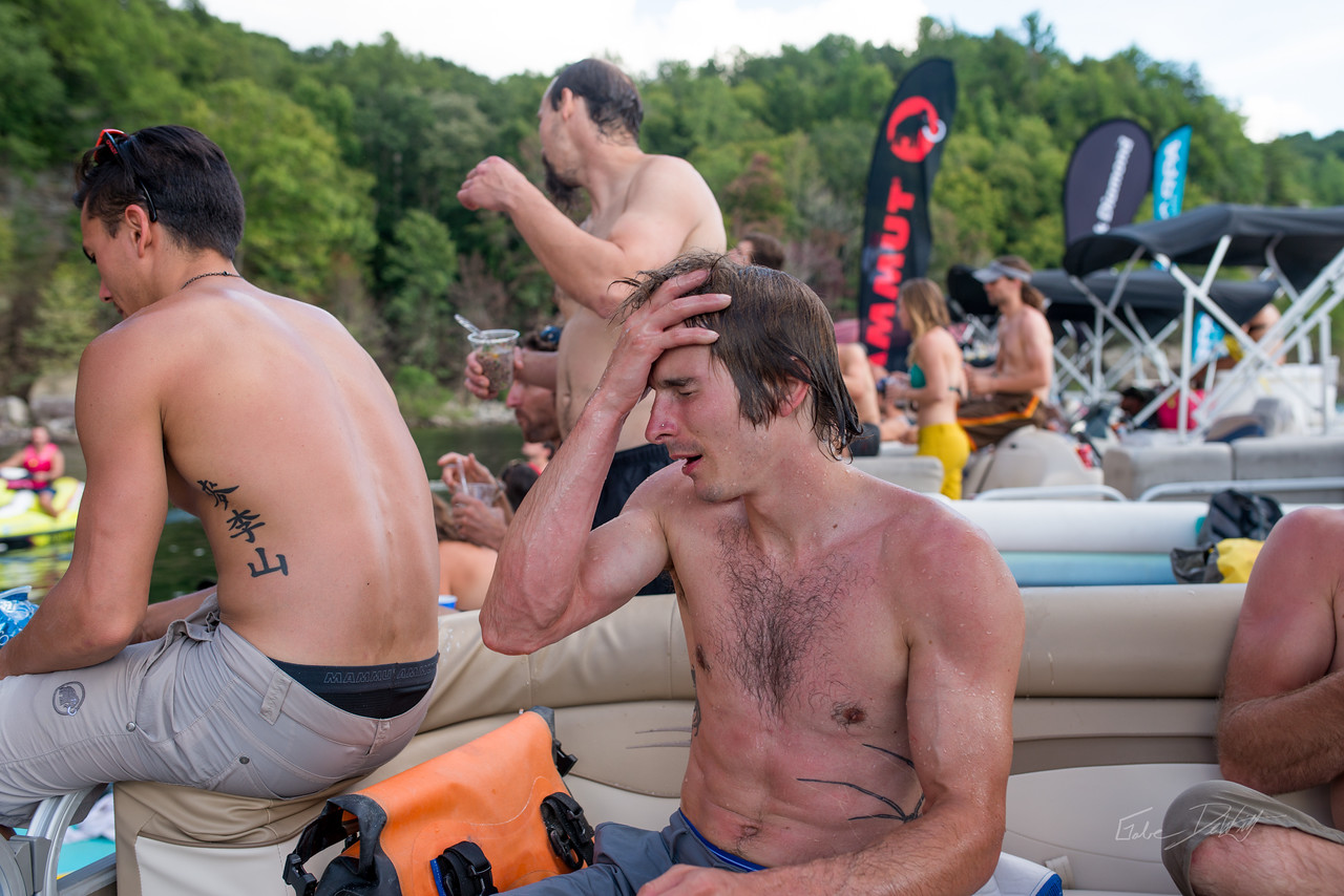 DWS; Daniel Woods; Deep Water Soloing; Deepwater soloing; Lake; PSICOBLOC; PSICOROC; Places; Psicocomp; Roks; Sand Stone; Sean McColl; Summer; WV; West Virginia; climbing; photo by Gabe DeWitt; summersville lake