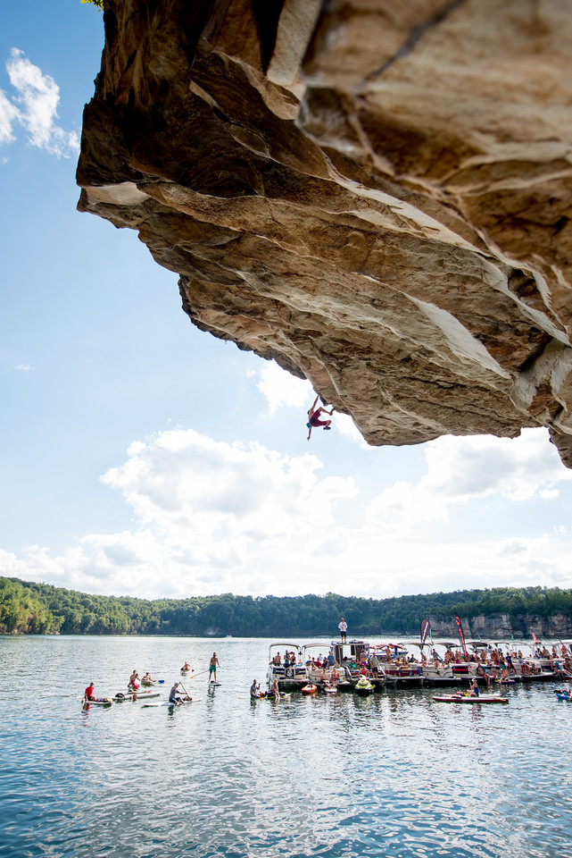 Deep; Water; Soloing; PSICOBLOC; 2016; Summersville; Lake; West; Virginia; Photo; Gabe; DeWitt; 2277; DWS; Deep Water Soloing; Deepwater soloing; Dru Mack; PSICOROC; Places; Psicocomp; Roks; Sand Stone; Summer; WV; West Virginia; climbing; photo by Gabe DeWitt; summersville lake