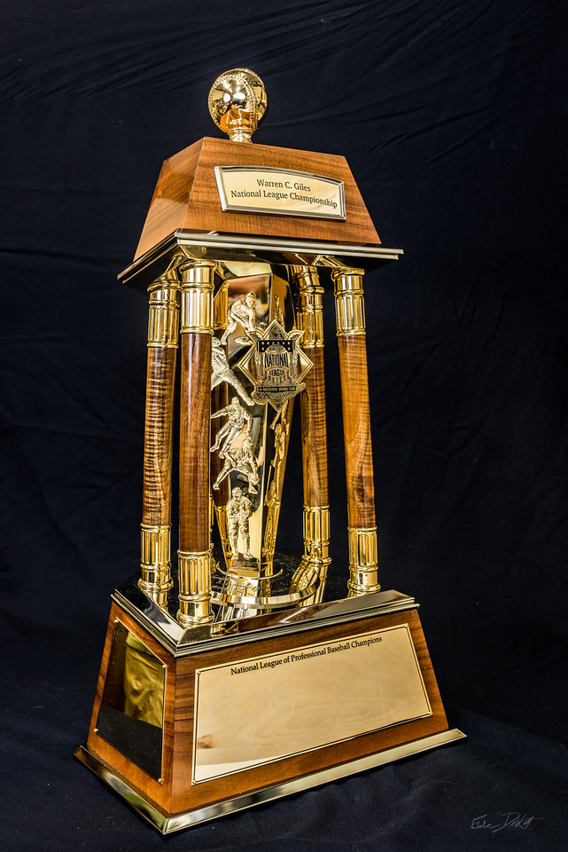 National; League; Championship; Trophy; Shimrock; Wood; art; Koa Wood; NLCS; National League Championship; National League Championship trophy; Places; Shimrock Wood Art; Wood Art; baseball; sculpture