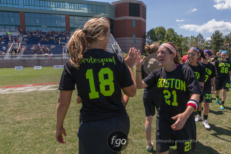Seattle Riot v Boston Brute Squad at Womens Division Championship finals of the USA Ultimate US Open at University of Rhode Island in Providence, RI on 4 July 2016