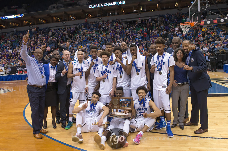 Minnesota State High School League Class A Boys Basketball Championship Final - Goodhue Wildcats v Minneapolis North Polars at Target Center on 12 March 2016