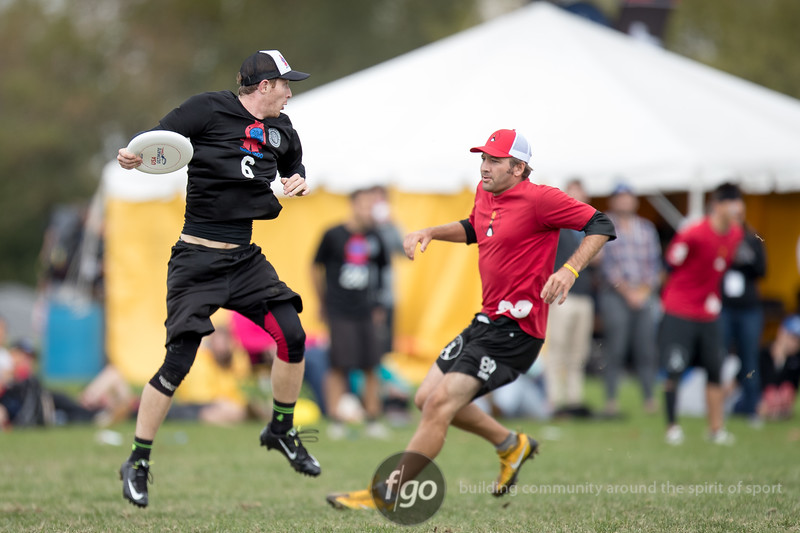 Mixed Divison Semi-finals Mianus North Metro v San Francisco Mischief at USA Ultimate National Championships in Rockford, IL on 1 October 2016