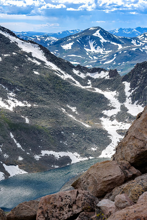 Sparkling lakes below the summit of Mount Evans