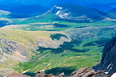 The View on the way up to Mount Evans