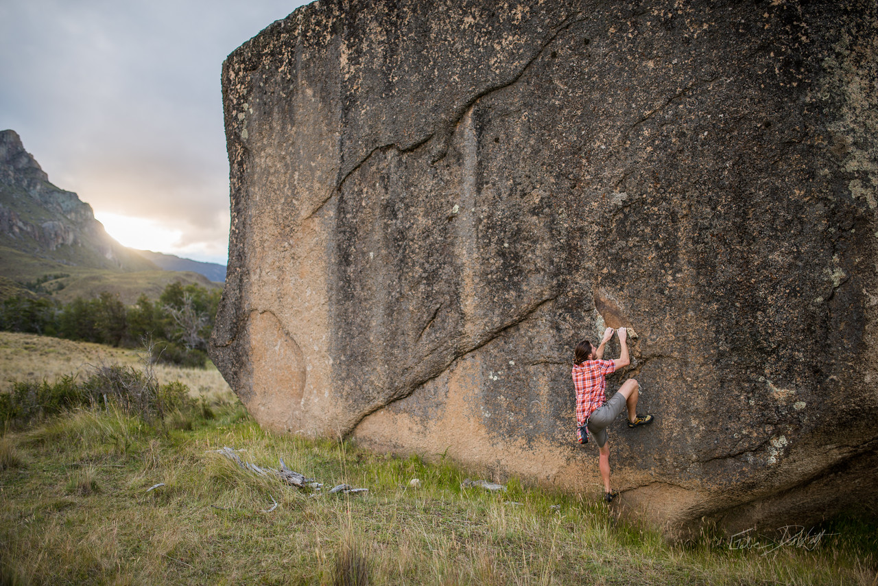 Chacabuco; Valley; Conservacion; Patagonica; Chile; Summer; 2017; 1581; GRD3261; America; Boulder; By Gabe DeWitt; Chacabuco Valley; Exofficio; GRD; Marmot; Patagonia; Places; South America; Travel; bouldering; climbing; conservacion patagonica; rocks