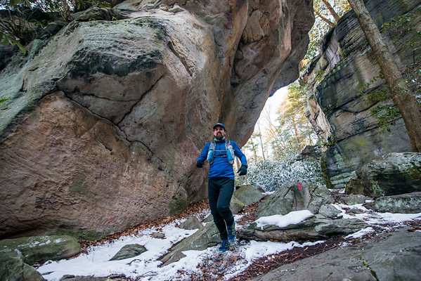 COOPERS; ROCK; 50k; and; Half; Marathon; West; Virginia; 464; Cooper Rocks; Coopers Rocks Foundation; Favorite things; HalfMarathon; Places; Race; Racers; Runners; Running; Seasons; Snow; Trail Running; West Virginia; Winter; photo by Gabe DeWitt; spring; trail