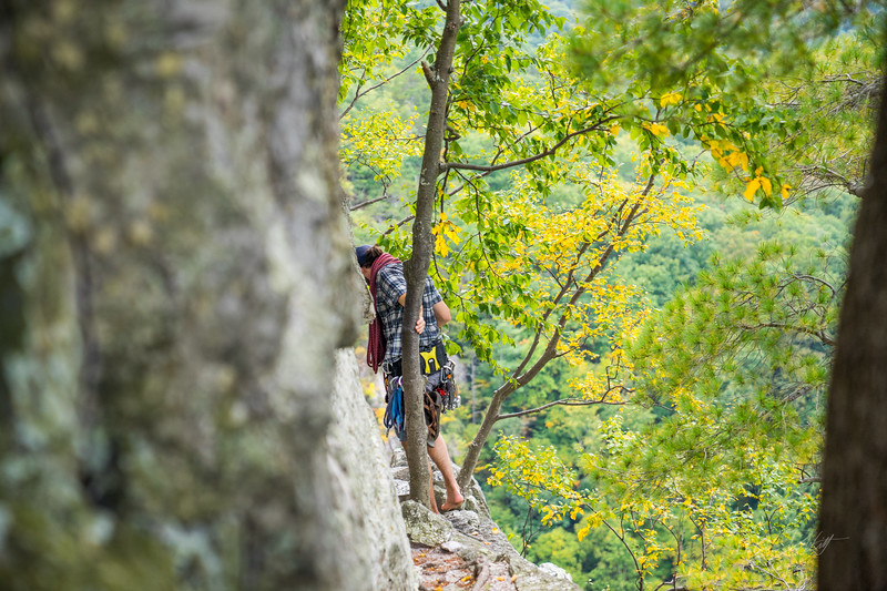Seneca-Rocks-climbing-&-Paw-Paw-Picking-WV-2017_September 17, 2017_3