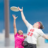 Medellin, Colombia Revolution v Seattle Riot Women's Division semifinal game at 2017 USA Ultimate US Open in Blaine, Minnesota - Day 2