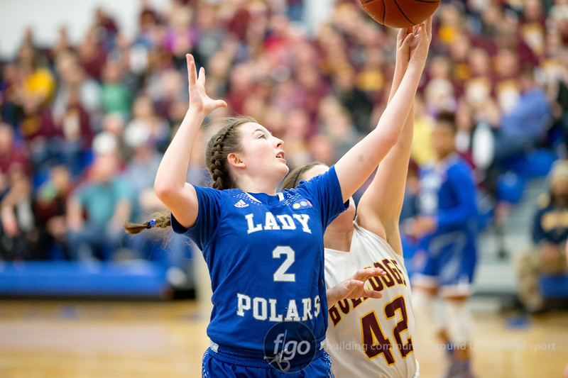 Minneapolis North v Lester Prairie Girls Basketball in Section 4A MSHSL Semis at Anoka Ramsey Community College on 7 March 2017