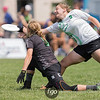 University Notre Dame Womb v Dartmouth University Princess Layout Women's Division Ultimate at Day 1 at 2017 USAU D1 College National Championships in Mason, Ohio