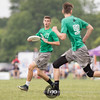 University of Pittsburgh En Sabah Nur v University of North Carolina Wilmington Seamen Men's Division pool play at day 2 of USA Ultimate D1 College National Championships in Mason, Ohio